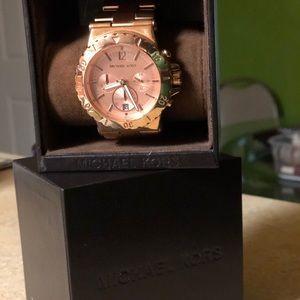 Michael Kors Women's Rose Gold Chronograph Watch
